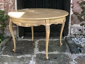 Warm Honey Hardwood French Country Round Large Rustic Dining Table RRP £599