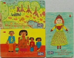 Malaysia Used Uniphone Phone Card : 3 pcs Children Drawing