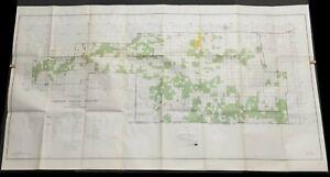 USDA Forest Service Map COMANCHE NATIONAL GRASSLAND 1969-1970 STAR print 1985