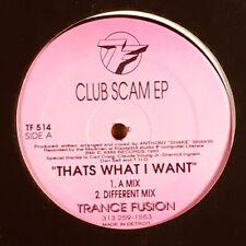 "Anthony Shakir - Club Scam EP. Detroit Techno / House 12"" Single Record."