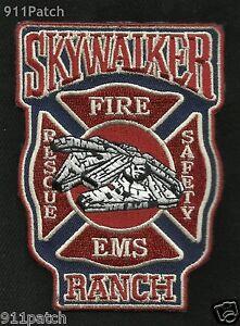 SKY WALKER RANCH, Nicasio, CA - Skywalker Fire Dept EMS Rescue FIREFIGHTER Patch