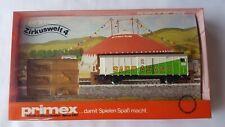 Primex H0 4589 Zirkuswelt 4 Sarrasani gedeckter Güterwagen mit Tierfiguren OVP