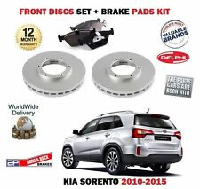 FOR KIA SORENTO 2.2 CRDi 2.4i 2/2010->NEW FRONT BRAKE DISCS SET + DISC PADS KIT