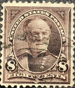 Vintage Scott #272 US 1895 Sherman Bureau Postage Stamp Watermark