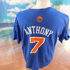 "Carmelo Anthony Knicks de Nueva York 7 NBA Camiseta. 22"" hoyo a hoyo, 28"" longitud, XL"