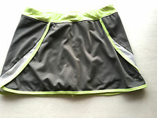 Tennis Skirt Golf Skort, Stretch DryFit Gray Small or Girls XL Poly Spandex EUC