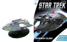Eaglemoss Diecast STAR TREK ST0061 USS BUDAPEST NORWAY CLASS w/MAGAZINE #61