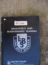 Link Belt Speeder HT-200 300 400 Outrigger Operator Manual Circuit Schematics  U