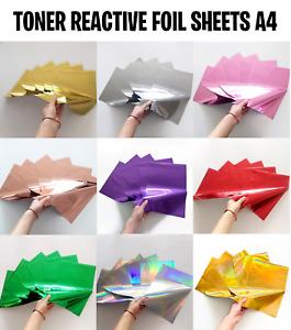 Hot stamping Foil A4 Toner Laser foil Reactive Embossing Heat foil 5 sheets LRF