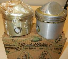 "1959 Matchless G12 650cc NOS 72mm +.100"" Italian Mondial #1438 PAIR pistons -119"