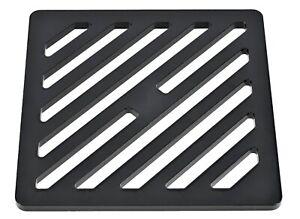 24cm x 17cm x 0.8cm rectangular black mild steel gully grid