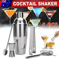 Cocktail Shaker Set Maker Mixer Martini Spirits Bar Strainer Bartender Kit AU