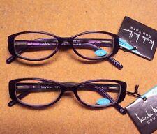 Lot 2 Nicole Miller Women Willow Purple Spring Hinge Reading Glasses +2.00