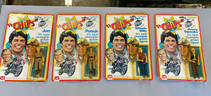 """1977 Mego Chips Ponch & Jon Jimmy Squeaks Wheels Willy 3 3/4"""" Action Figures MOC"""