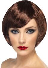 Ladies 60's Brown Bobbed Babe Wig