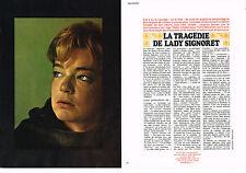 """COUPURE DE PRESSE CLIPPING 114  1966  SIMONE SIGNORET """" la tragédie"""" ( 4p)"""