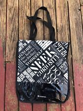 NEW 2 Tall Large LULULEMON Black Limited Edition Reusable Shopping Tote Bags
