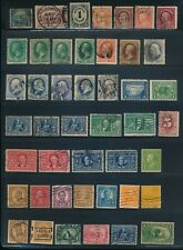 USA LOT OF 45 EARLY STAMPS MINT & USED !!  M2-01