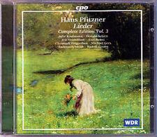 Pfitzner canzoni 3 Christoph Pregardien Andreas Schmidt Iris Vermillion CPO CD
