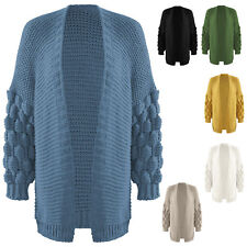 New Vivien Caron Warm Wool Knitted Hooded Drawstring Cardigan Jumper Sweater