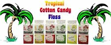 Cotton Candy Flossugar, Case of 6-1/2 Gallon Cartons-Tropical Flavors