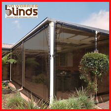 NEW! 120 x 240 Charcoal Bistro Cafe Blind PVC Patio Backyard Outdoor Verandah