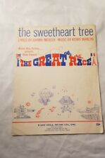 THE SWEETHEART TREE Vintage Sheet Music 1965 Guitar Song Movie Great Race Love