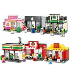LEGO Compatible Retail Store Shop - Apple 7-Eleven KFC McDonalds Starbucks Shops