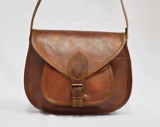 "11""Indian Real Genuine Leather Vintage Messenger ladies Shoulder Hippie Tote Bag"