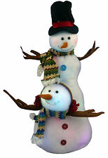 "28"" Light Up Snowman Figure - Colour Changing Lights Christmas Decoration (DS10)"