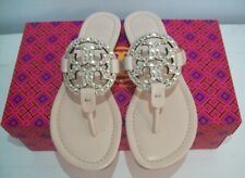 TORY BURCH Miller Sandals Embellished Sea Shell Pink 6.5 New With Box FREE SHIP