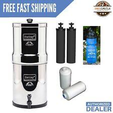 Travel Berkey filter system w/ 2 Black & 2 PF-2 filters & 1 Berkey Sports Bottle
