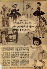 1958 ADVERT Horsman Doll Dolls Pony Tail Baby Sno Suit Drink Wet