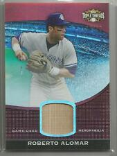 2011 Topps Triple Threads Baseball Roberto Alomar Game Used Bat Card # 16/36