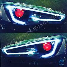Demon Eyes HID LED Headlights For MITSUBISHI LANCER 2008-2017 EVO X Front Lights