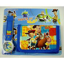 HOT Toy Story Buzz & Woody Children's Kids Boys Girls Watch Wallet Set Christmas