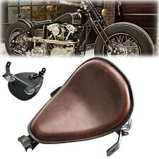 "Motorcycle SOLO Saddle Seat 3"" Spring Bracket Set Brown For Harley Street Glide"