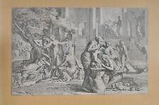 Pietro Testa (1611-1650): The birth of Achilles, etching