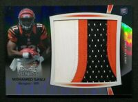 2012 Bowman Sterling Jumbo Rookie Patch Mohamed Sanu Bengals RC 32/45
