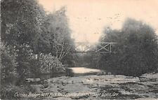 Oregon postcard Currins Bridge West Fork Willamette River Cottage Grove 1909
