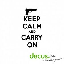 Keep calm and carry on Weapon Waffe // Sticker JDM Aufkleber Frontscheibe