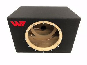 JL Audio 12W7 AE sealed subwoofer box with red plexi logo