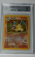 Pokémon Base Unlimited German Charizard 4/102 Glurak - Vintage Graded BGS 9 Mint