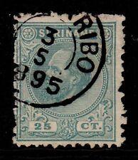 Suriname - 1875 Definitive Willem III Mi. 11A (11,5x12) FU