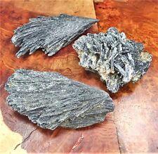 Black Kyanite Crystal Cluster Natural Raw BR26 Healing Crystals And Stones