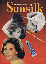 PUBLICITE ADVERTISING 064 1958 SUNSILK shampoing cheuveux dociles