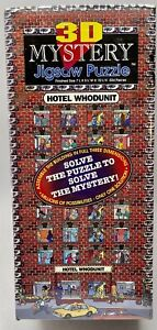 3D Mystery Jigsaw Puzzle Hotel Whodunit 504 Pieces Buffalo Games 1993-New/Sealed