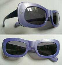 Occhiali da sole anni '70 in acetato viola vintage sunglasses