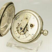 Rare! Mechanische Taschenuhr Herren Uhr Uhren no spindel chronometer duplex RAR