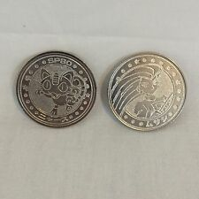 Rare Japan Pokemon Meowth Jessie medal coin Meiji Juice nintendo F/S